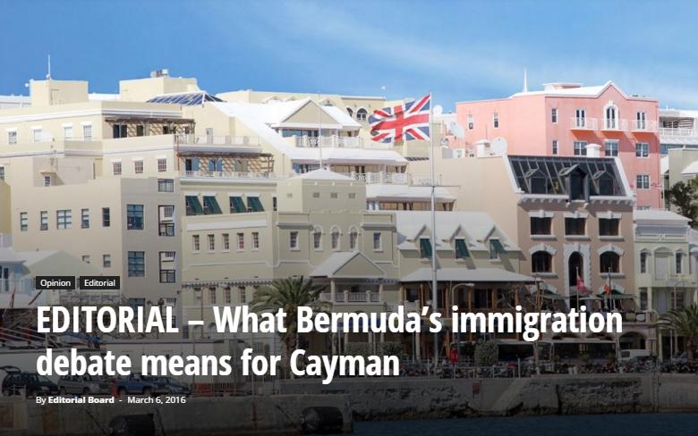 cayman compass bermuda immigration